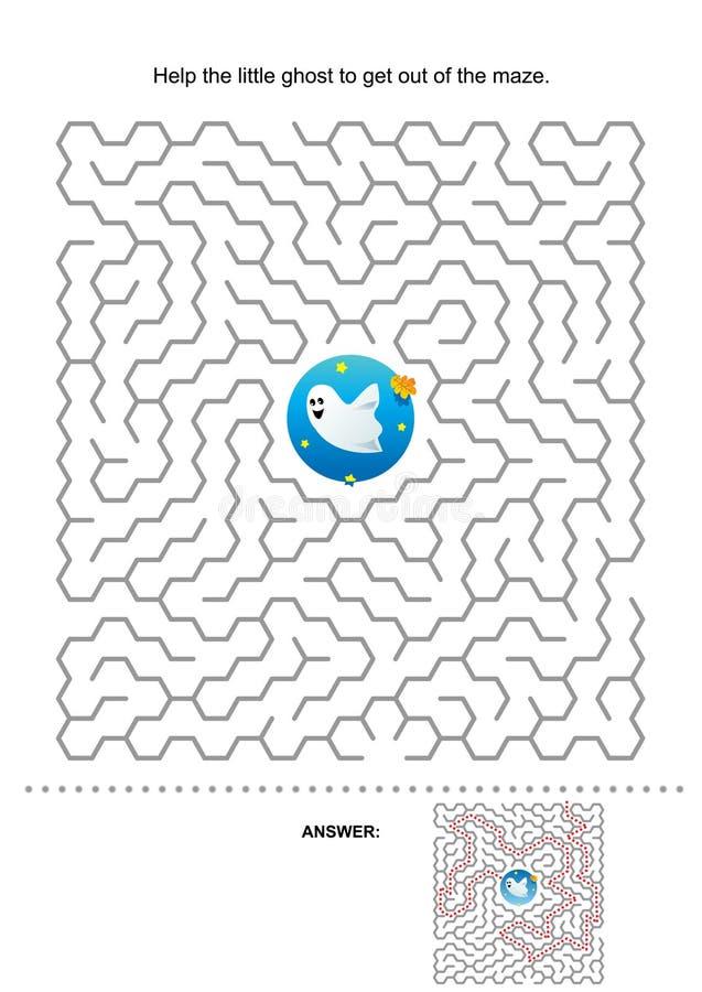 Het labyrintspel van Halloween voor jonge geitjes vector illustratie