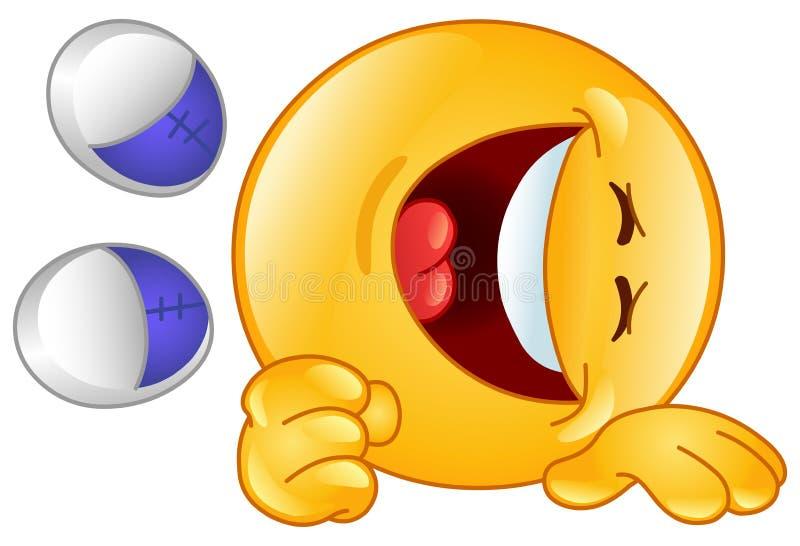 Het lachen emoticon vector illustratie
