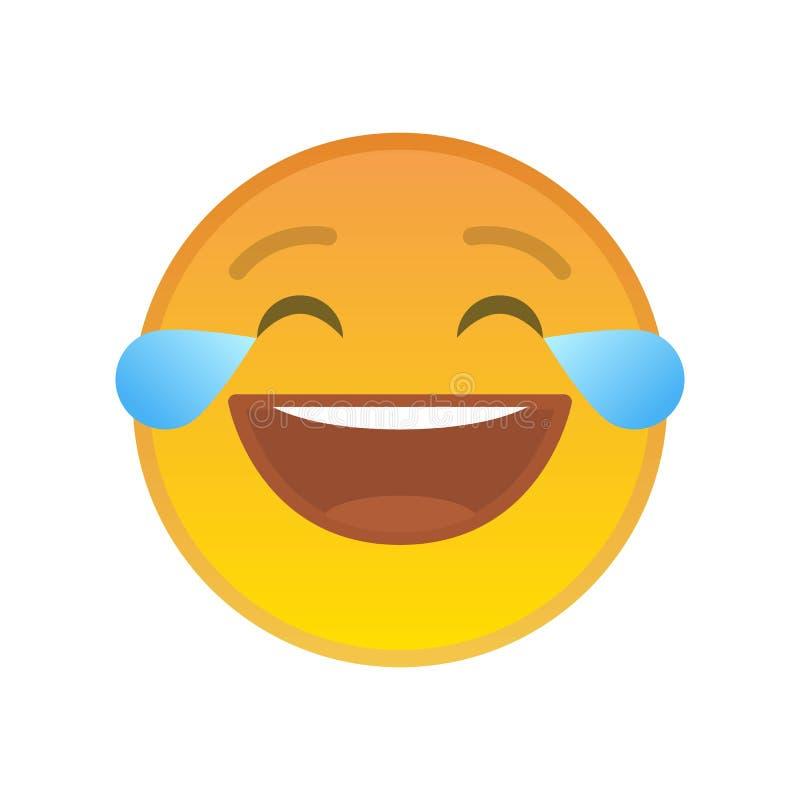 Het lachen emoticon met scheuren van vreugde vector illustratie
