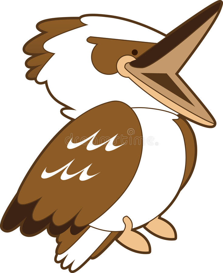 Het lachen het Beeldverhaal van de Kookaburra royalty-vrije illustratie