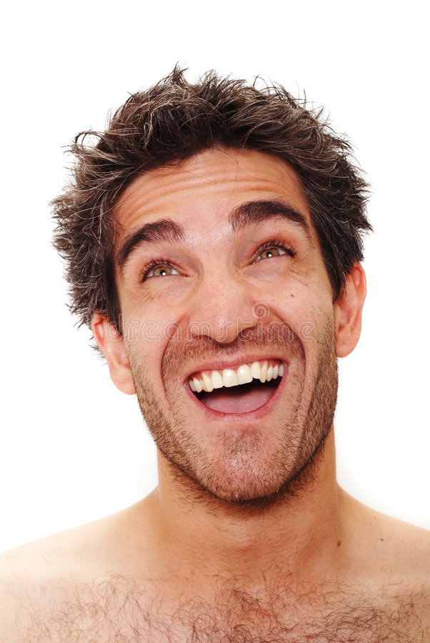 Het lachen van de mens royalty-vrije stock foto