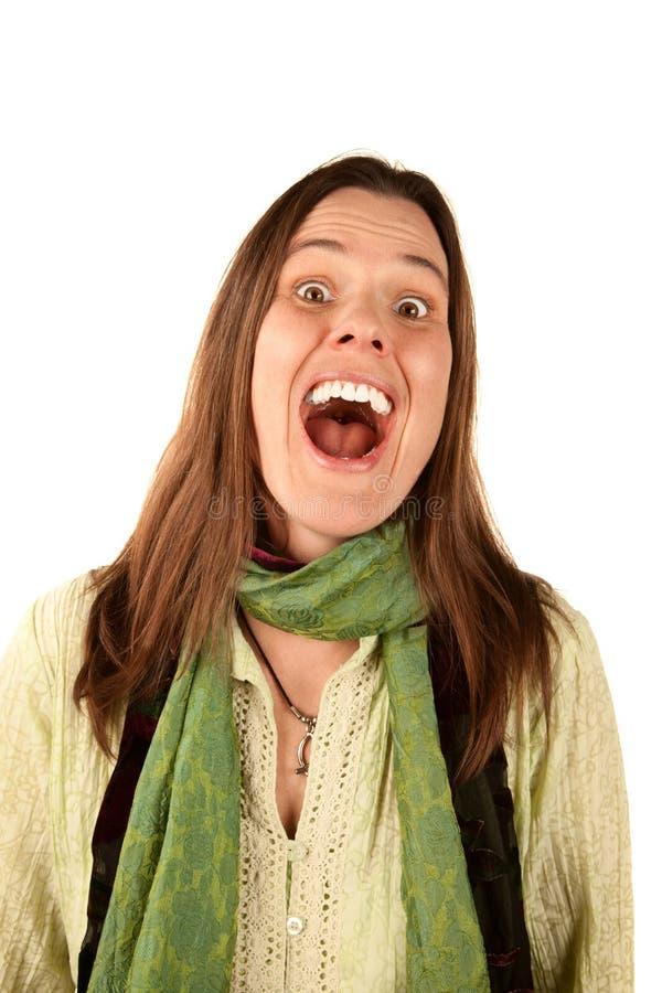 Het Lachen van de vrouw stock fotografie