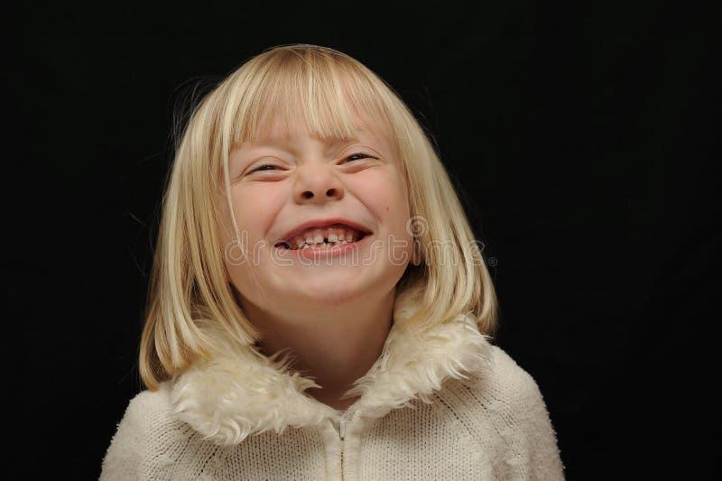 Het lachen van het Meisje van de blonde   royalty-vrije stock foto's