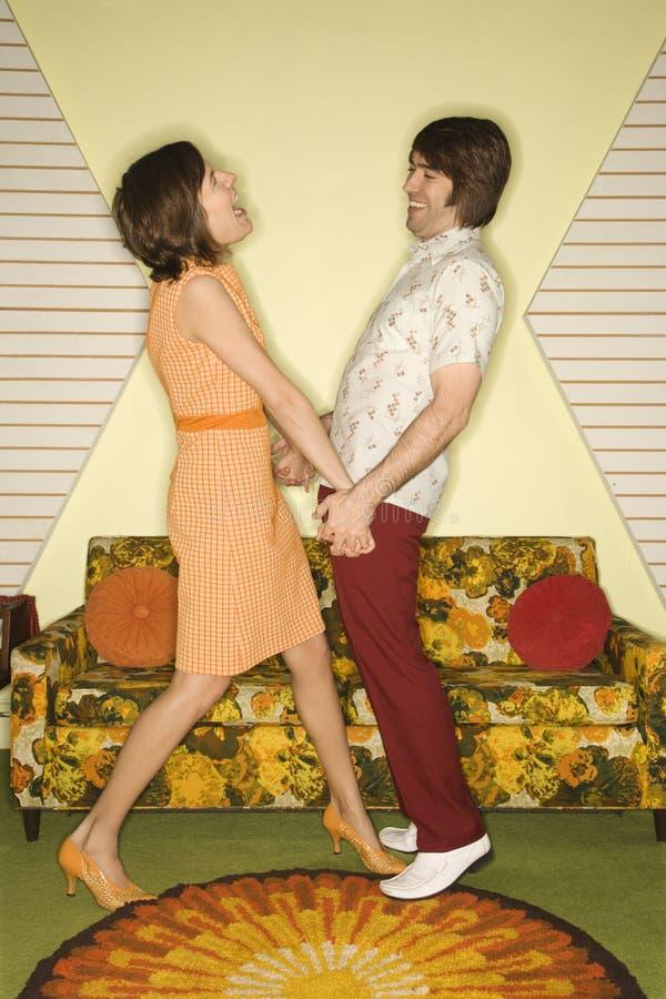 Het lachen van het paar. royalty-vrije stock fotografie