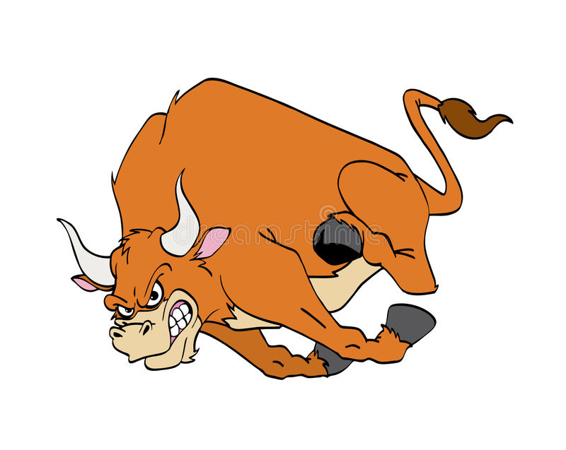 Het Laden van de stier royalty-vrije illustratie
