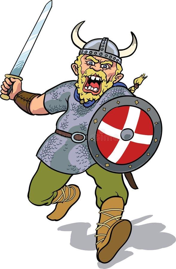 Het laden van Viking royalty-vrije illustratie