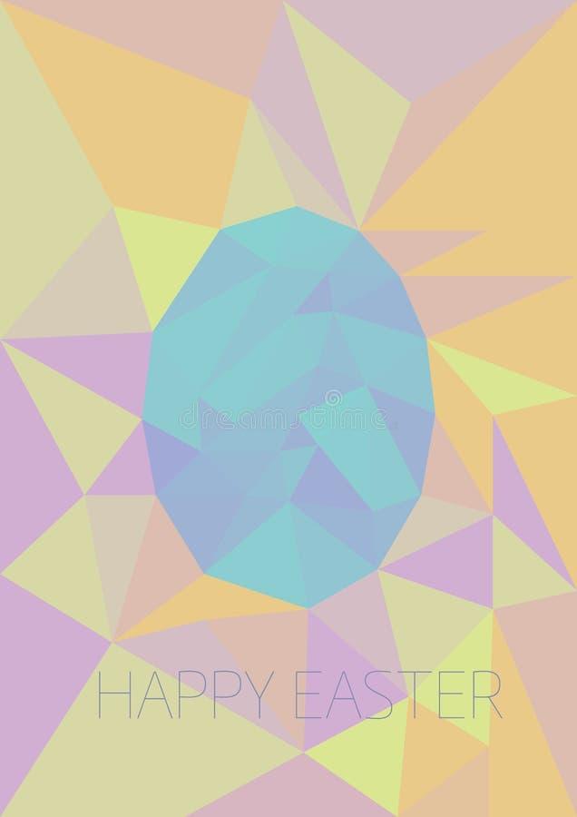 Het lage poly kleurrijke ei van Pasen stock afbeelding