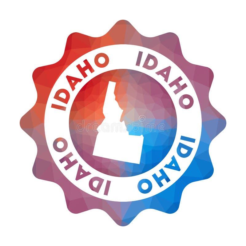 Het lage polyembleem van Idaho royalty-vrije illustratie