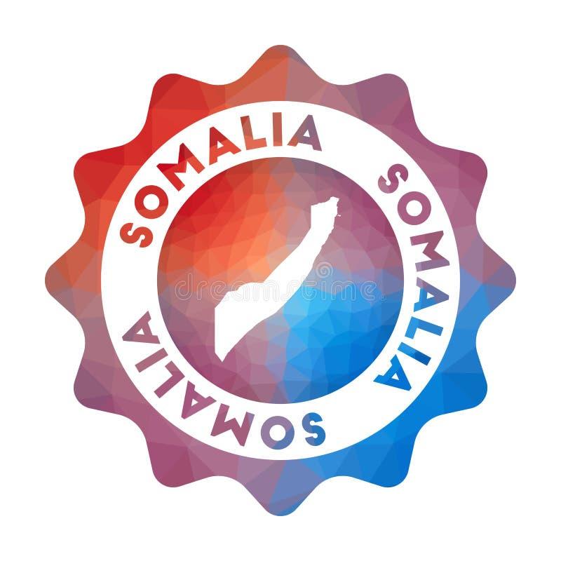Het lage polyembleem van Somalië royalty-vrije illustratie