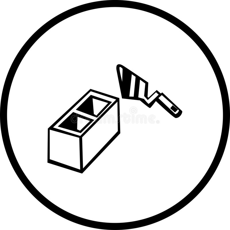 Het in lagen aanbrengen van de baksteen vector illustratie