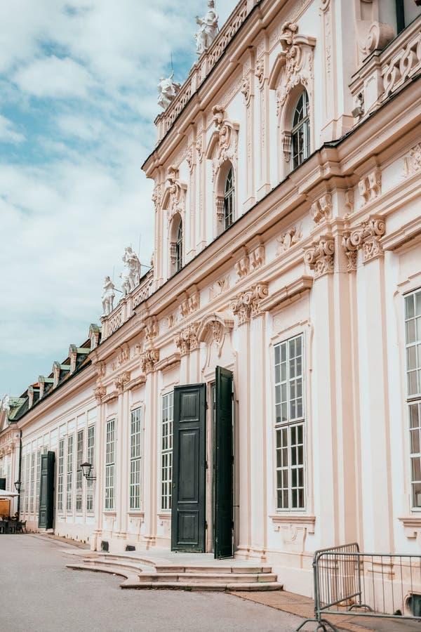 Het Lagere Belvedere Paleis in Wenen, Oostenrijk royalty-vrije stock afbeelding