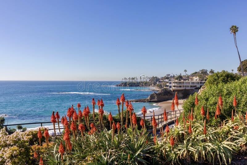 Het Laguna Beach van het Heislerpark en de Vreedzame Oceaan royalty-vrije stock fotografie