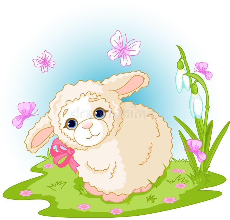 Het lam van Pasen vector illustratie