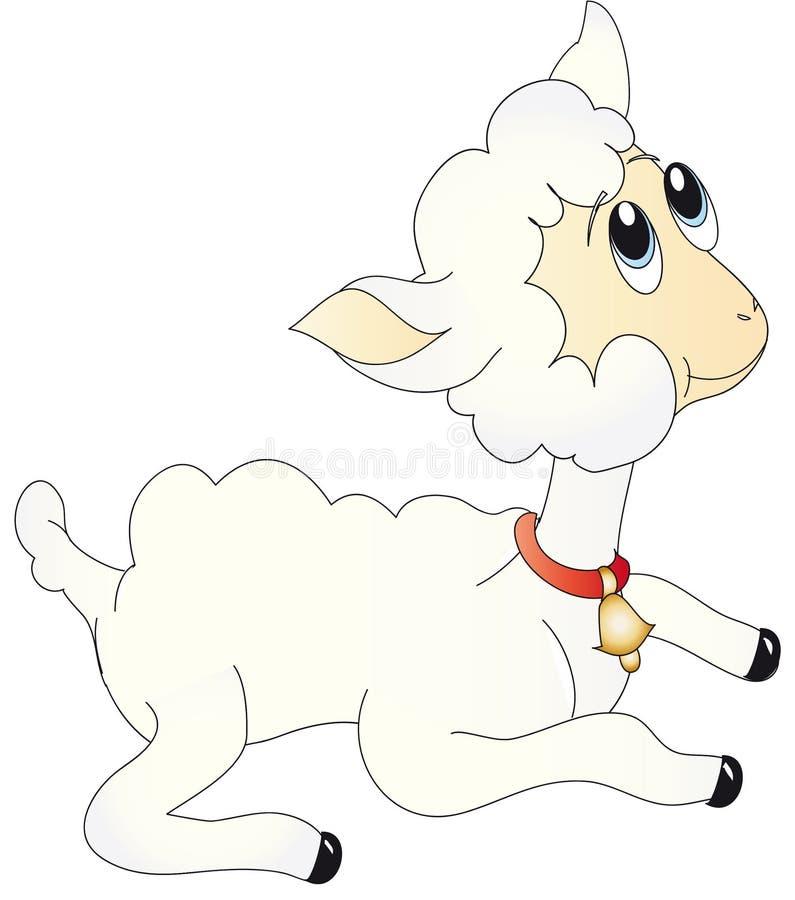 Het lamsillustratie van schapen vector illustratie