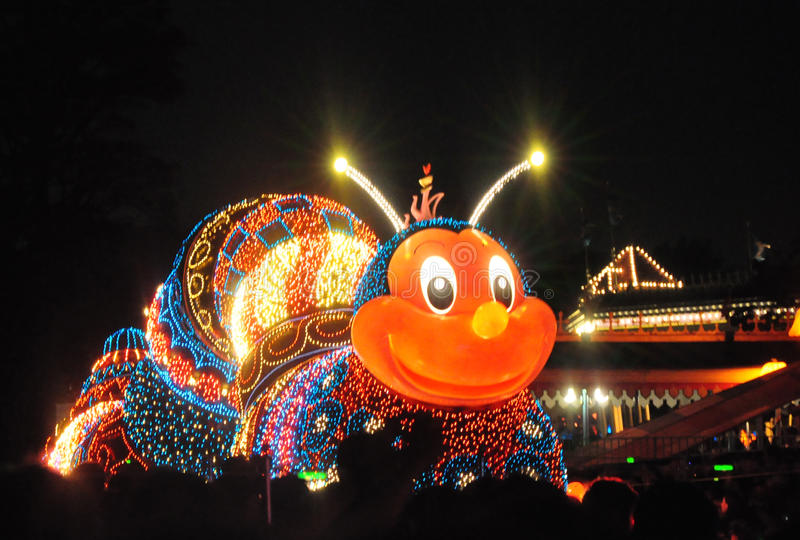 Het Land Elektroparade van Tokyo Disney. stock afbeelding