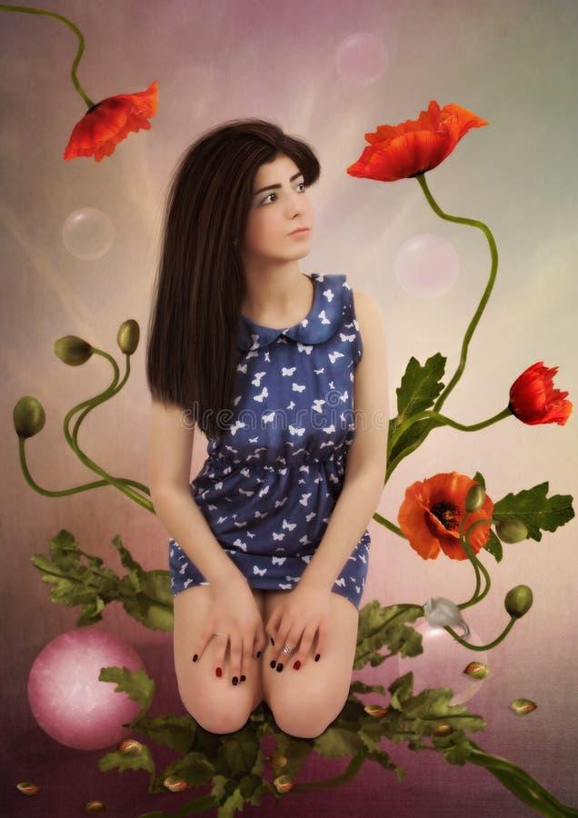 In het land van bloemen royalty-vrije stock afbeelding