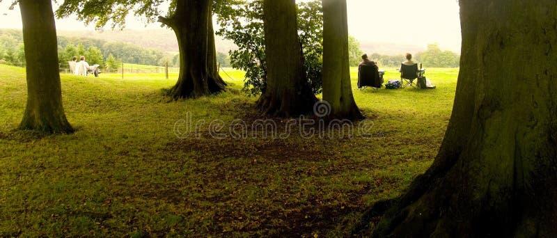 Het land van Broadway parkeert cotswolds Worcestershire de Midlands stock foto's
