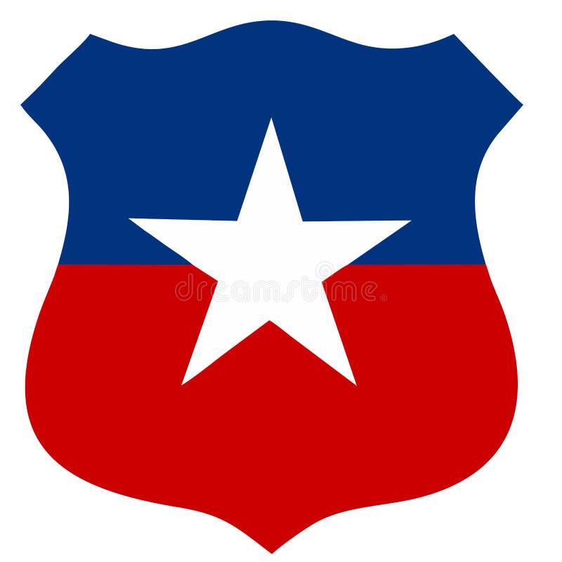 Het land van Chili roundel stock illustratie