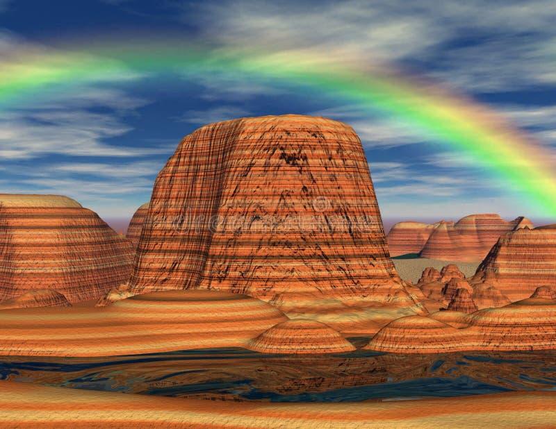 Het Land van de regenboog royalty-vrije illustratie
