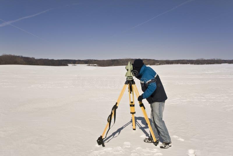 Het land van de winter het onderzoeken stock afbeeldingen