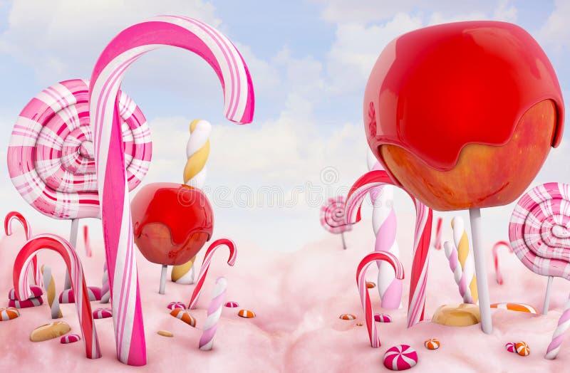 Het land van het suikergoed royalty-vrije illustratie