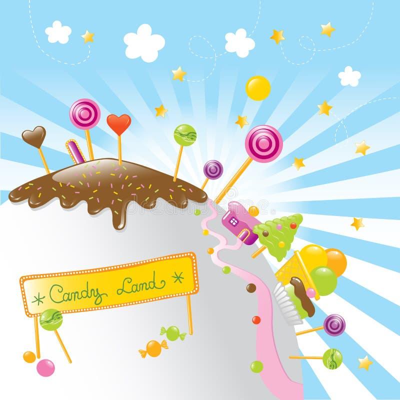 Het land van het suikergoed vector illustratie