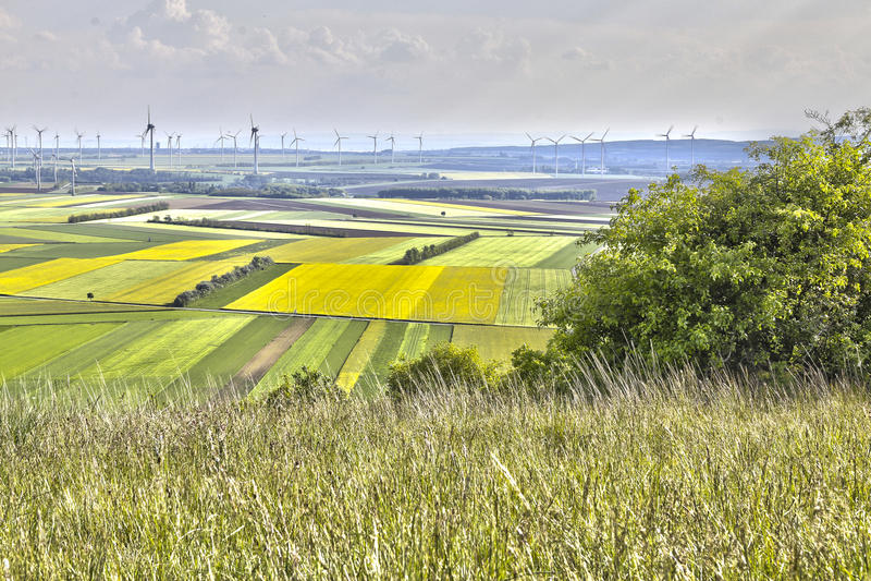 Het land van windmolengebieden royalty-vrije stock fotografie
