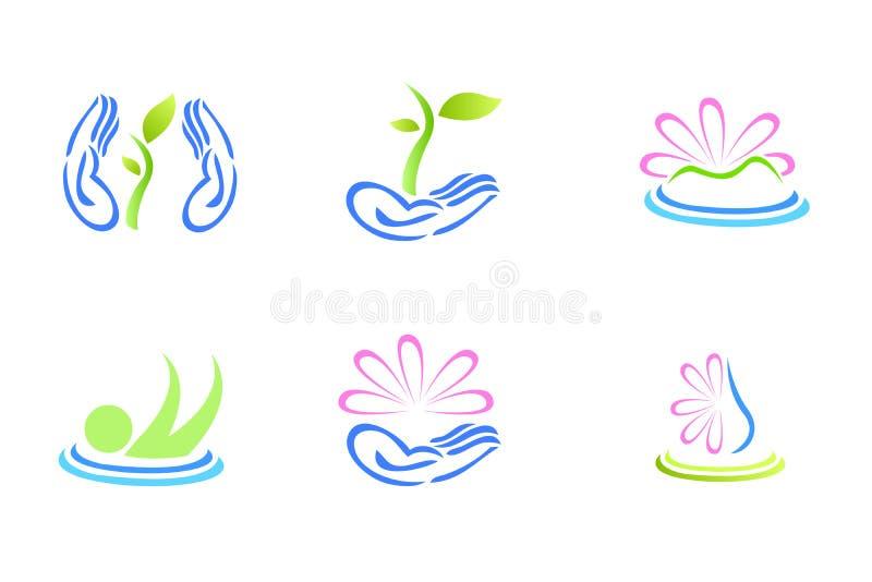 Het landbouwbedrijf natuurlijke emblemen van de schoonheid vector illustratie