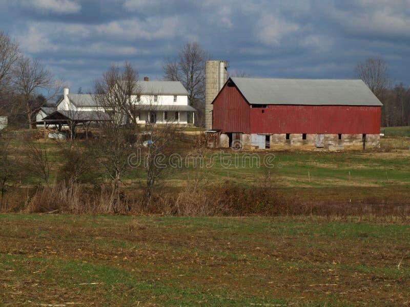Het landbouwbedrijf van Amish stock afbeeldingen