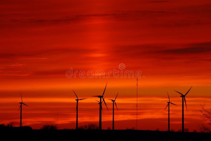 Het landbouwbedrijf van de wind stock afbeeldingen