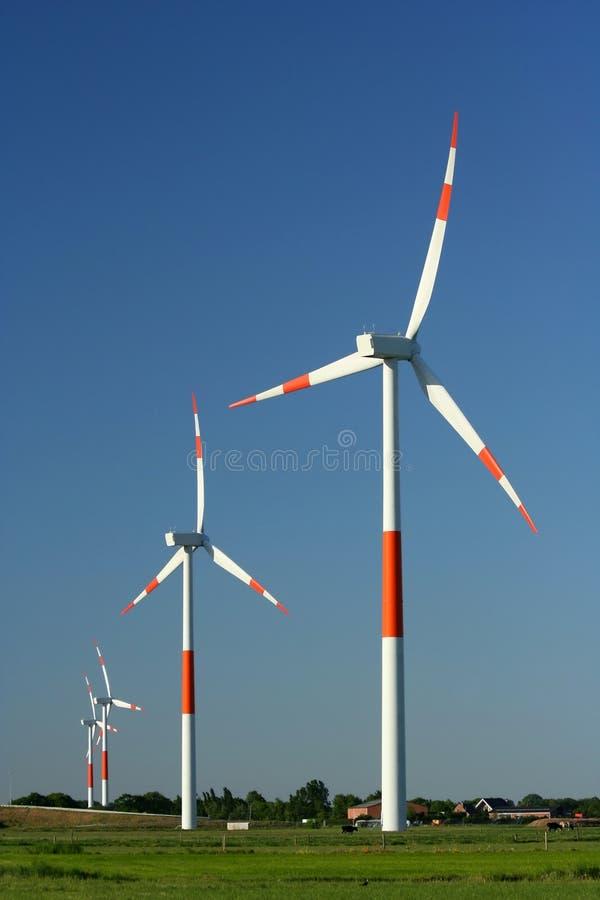 Het landbouwbedrijf van de wind stock foto