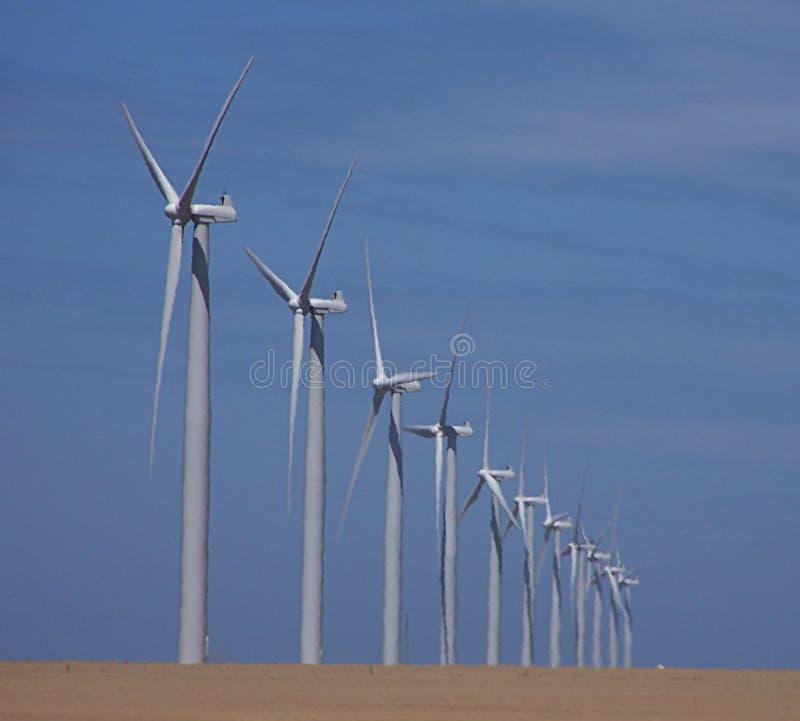 Het landbouwbedrijf van de wind royalty-vrije stock afbeelding
