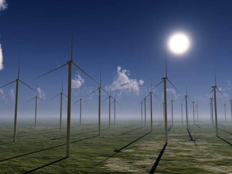 Het Landbouwbedrijf van de wind stock illustratie