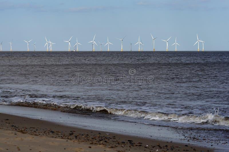 Het landbouwbedrijf van de wind van kust royalty-vrije stock fotografie