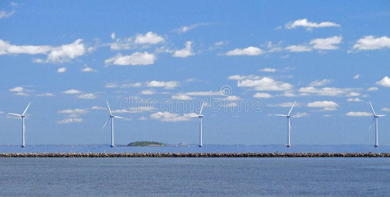 Het landbouwbedrijf van de wind w1 stock foto's