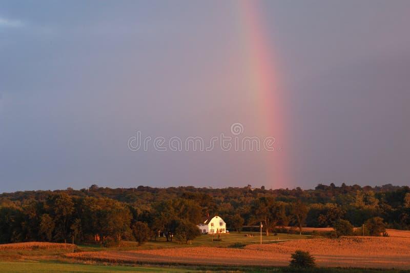 Het landbouwbedrijf van Iowa royalty-vrije stock afbeelding
