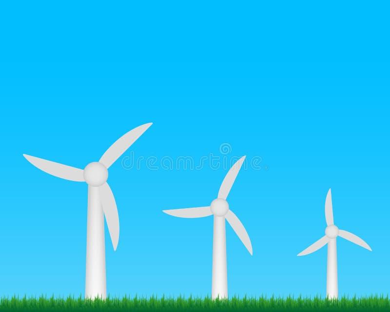 Download Het Landbouwbedrijf Van Windturbines Vector Illustratie - Illustratie bestaande uit duurzaam, duurzaamheid: 39113774