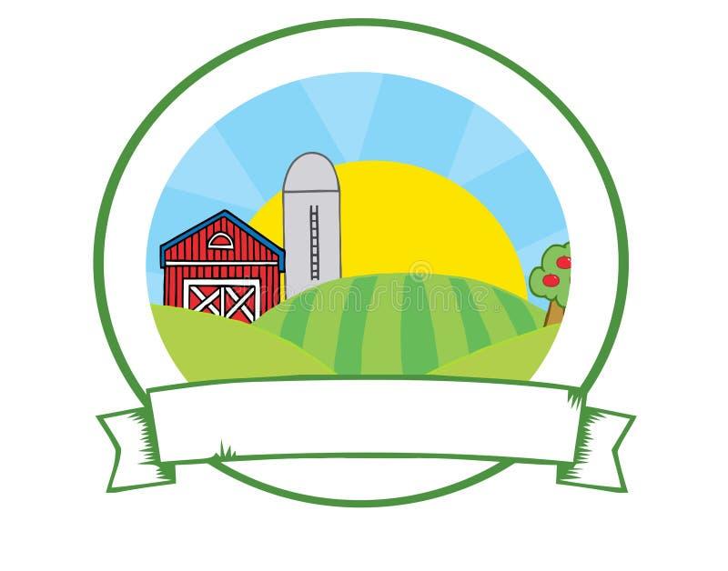 Het landbouwbedrijfbanner van het land stock illustratie