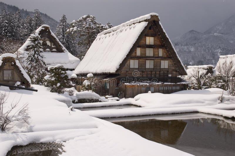 Het Landelijke Huis van Japan royalty-vrije stock afbeeldingen