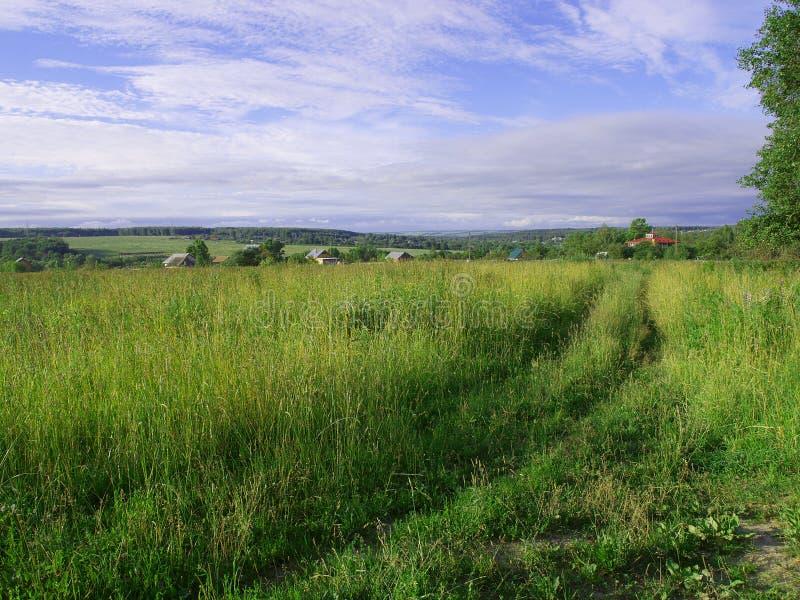 Het landelijke landschap. stock fotografie