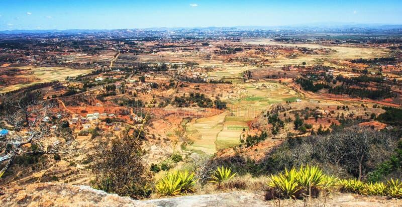 Het landelijke landschap bij Bemoeiziek is, Madagascar royalty-vrije stock foto