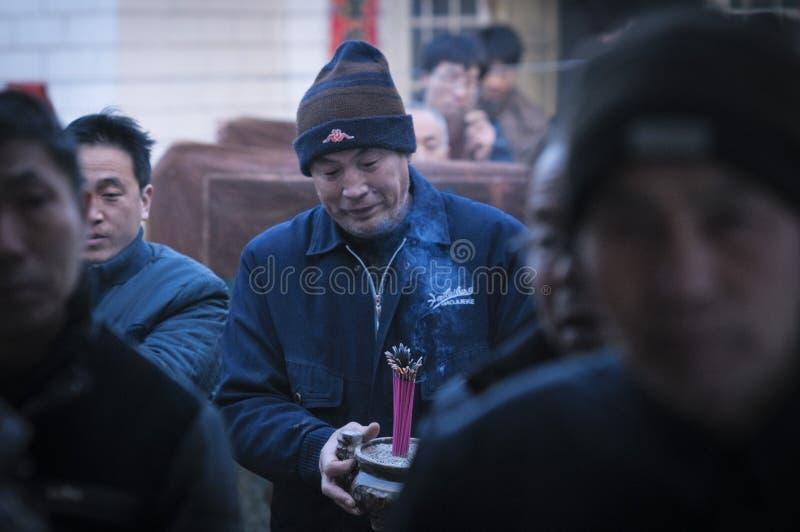 Het landelijke offer van het de Lentefestival van China royalty-vrije stock foto