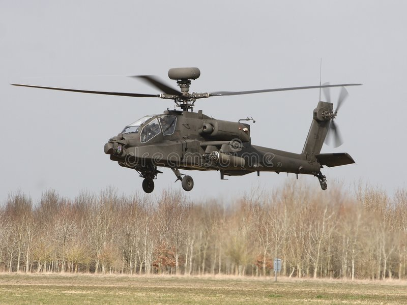 Het Landen van Apache stock foto's