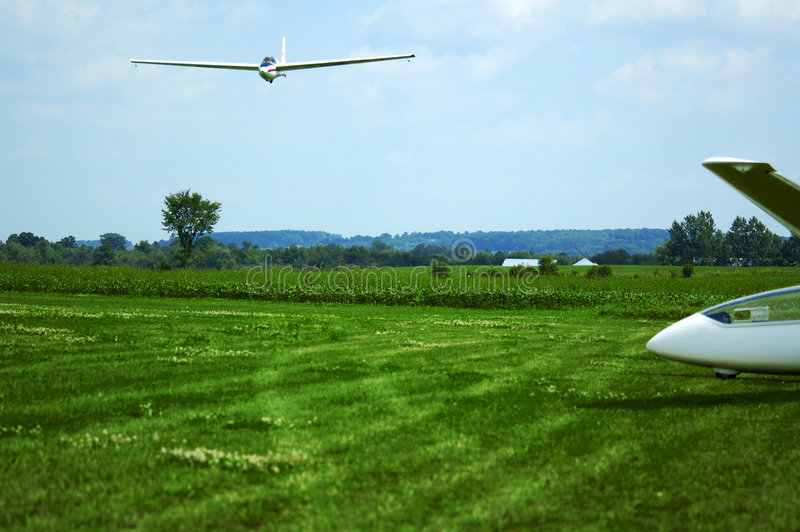 Het Landen Van Het Zweefvliegtuig Royalty-vrije Stock Fotografie