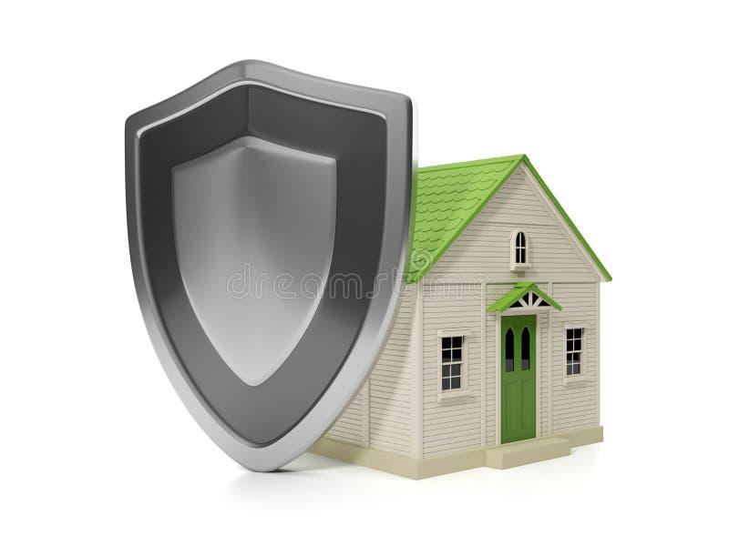 Het Landgoed van de huisvesting. De verzekeringsbescherming van het huis, royalty-vrije illustratie