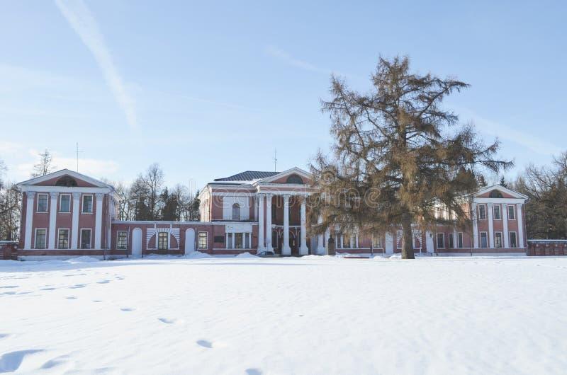 Het landgoed in Yaropolets dichtbij Volokolamsk, dat door Zagryazhsky wordt bezeten, die tweemaal door Pushkin werd bezocht royalty-vrije stock fotografie