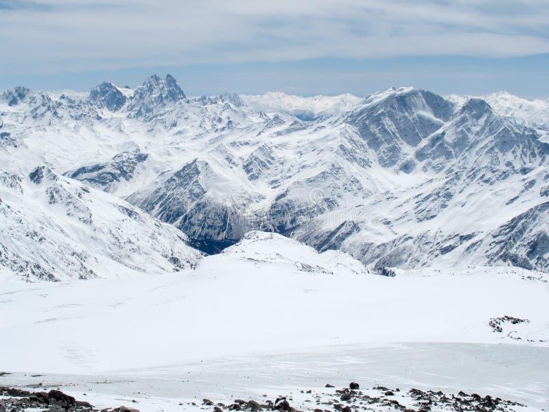 Het landschap de Kaukasus van bergen stock fotografie