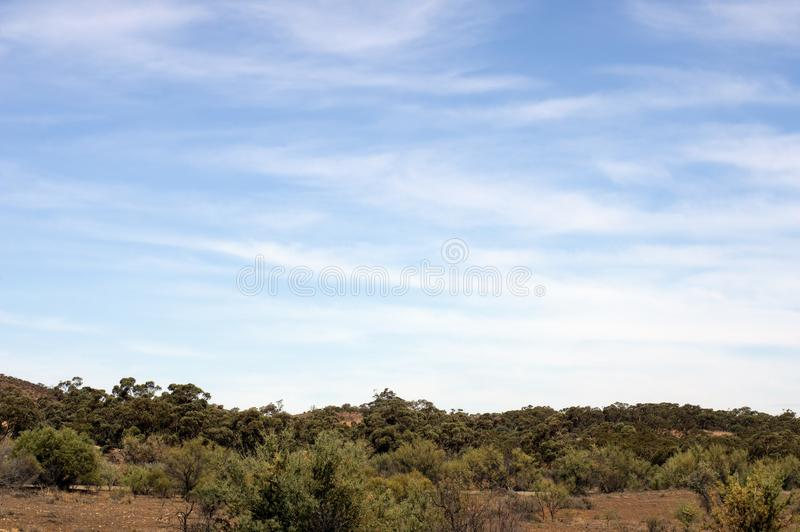 Het landschap langs Flinders ` strekt zich Manier, het noorden van uit Venter, Zuid-Australië royalty-vrije stock foto