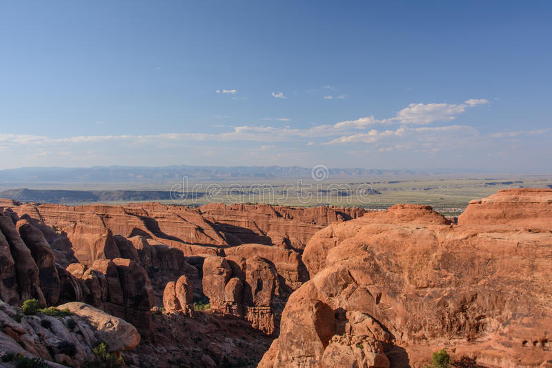 Het landschap overspant Nationaal Park, Moab Utah, Verenigde Staten stock afbeeldingen