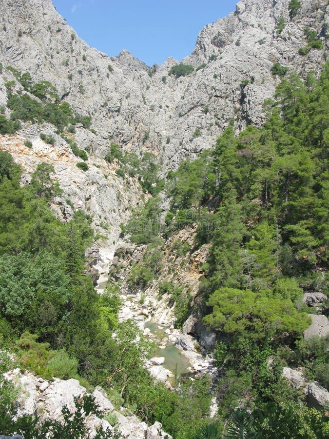 Het landschap Turkije van de canion stock fotografie